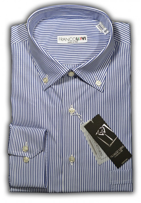 Camicia Uomo Botton Down Rigo Blu