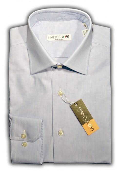 Camicia Uomo Collo Mezzo Francese Unito Celeste