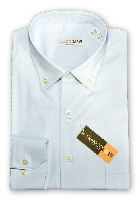 CAMICIA UOMO CELESTE CIELO COLLO BOTTON DOWN