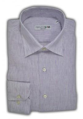 Camicia Uomo 100% Lino Millerighe Glicine Collo Italiano
