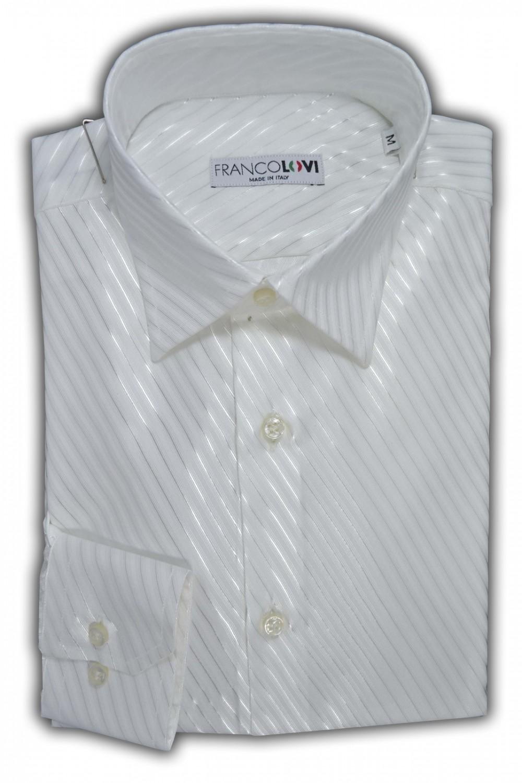 hot sale online 74b8a 875b1 Camicia Uomo Bianca Elegante Collo Italiano