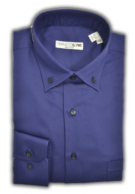 Camicia Uomo Blue Collo Botton Down