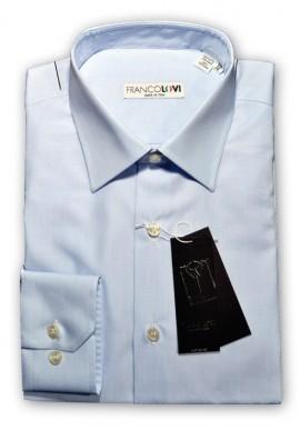 Camicia Uomo Celeste Cielo Collo Mezzo Francese
