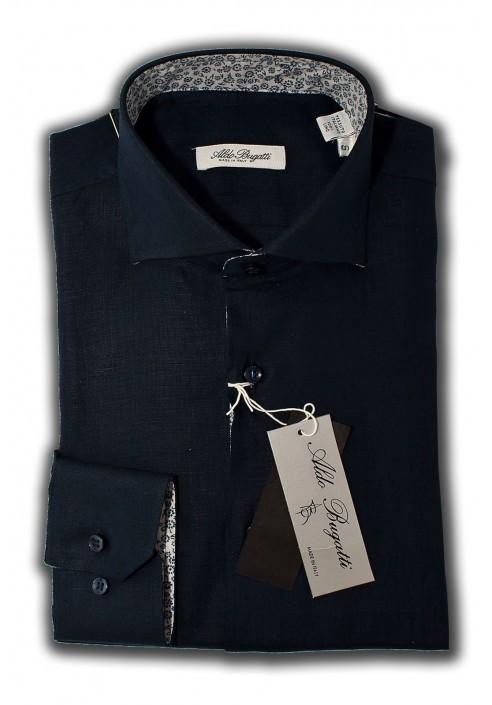 Camicia Uomo Slim Bianca con Contrasti Blue